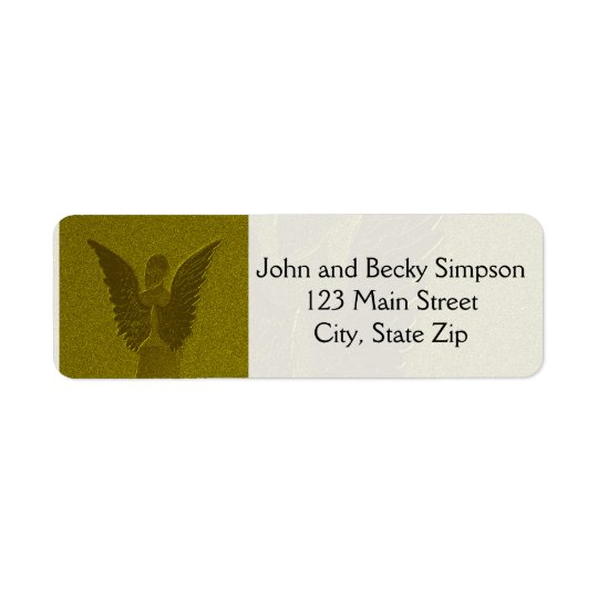 Golden Guardian Angel Return Address Label