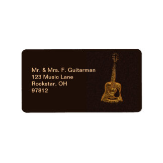 Golden Guitar Music Lover's Address Labels