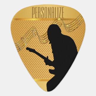 Golden Guitarist   DIY Text Guitar Pick