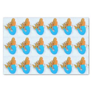 golden hair mermaid tissue paper