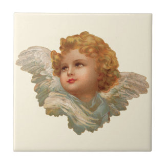 Golden Haired Cherub Ceramic Tiles