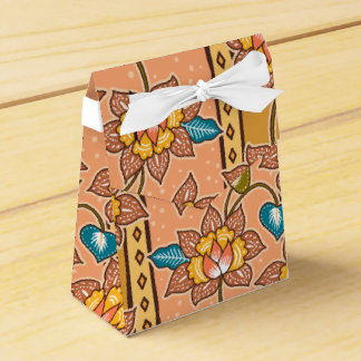 Golden Hand drawn decorative floral batik pattern Favor Box