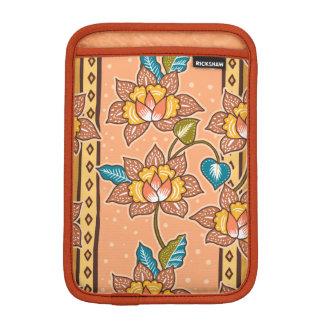 Golden Hand drawn decorative floral batik pattern iPad Mini Sleeves