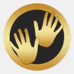 GOLDEN HANDS STICKERS