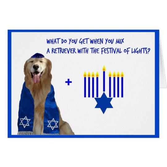 Golden Hanukkah Glow Card