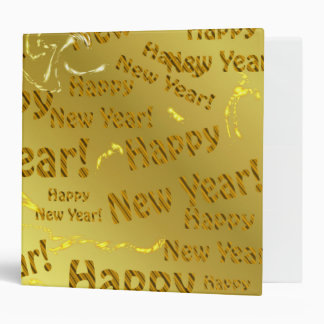 golden happy new years text binder