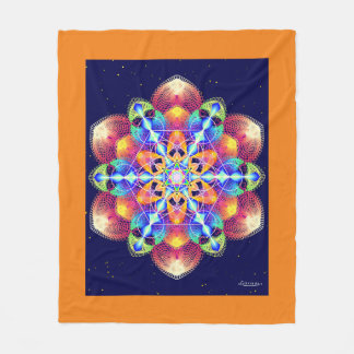 Golden Harmonics Fleece Blanket