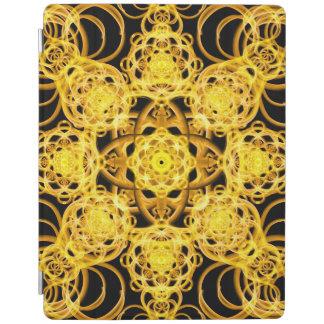 Golden Harmony Mandala iPad Cover