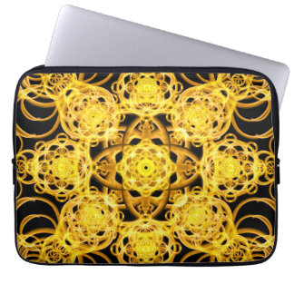 Golden Harmony Mandala Laptop Sleeve
