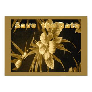 Golden Hawaiian Tropical Card