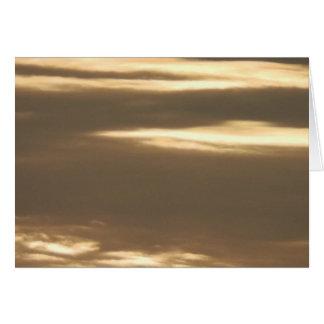 Golden Haze Sunset Greeting Card