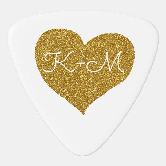golden heart, couples guitar pick