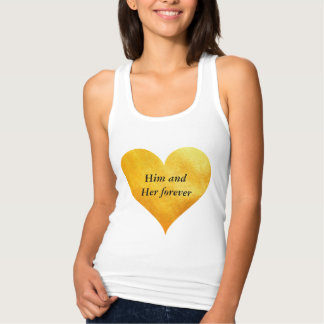 Golden Heart Custom Names Tank Top
