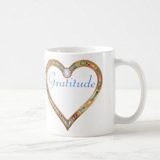 Golden Heart, OM, Gratitude Coffee Mug