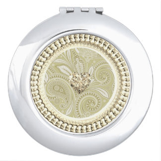 Golden Heart_Ornate-Paisley_Cream Vanity Mirrors