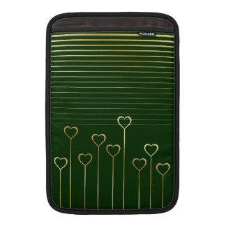 Golden Heart Stems Green Macbook Air Sleeve
