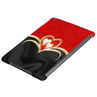 Golden hearts iPad air cover