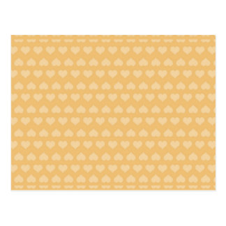 GOLDEN Hearts Pattern Postcard