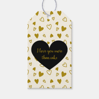 Golden Hearts Valentine's Day Gift Tags