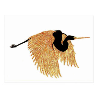 Golden Heron Postcard