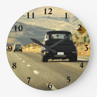 Golden Highway Clock