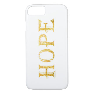 Golden Hope Text Apple iPhone 7, Barely There Case-Mate iPhone Case