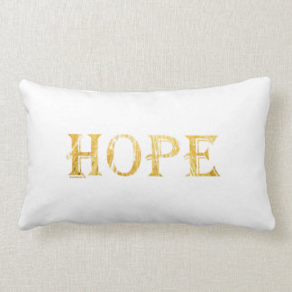 Golden Hope Text Lumbar Pillow 33 cm x 53 cm
