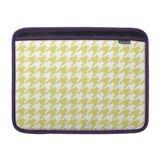 Golden Houndstooth 1 MacBook Air Sleeve
