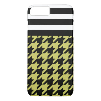 Golden Houndstooth w/ Stripes 2 iPhone 7 Plus Case