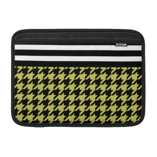 Golden Houndstooth w/ Stripes 2 Sleeve For MacBook Air