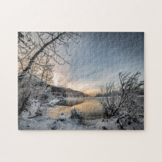 Golden Hour at Below Zero Jigsaw Puzzle