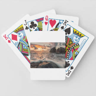 Golden hour bicycle playing cards