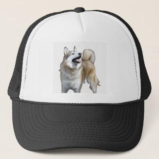 Golden Husky Looking Up Trucker Hat