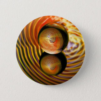 Golden in the crystal ball 2 inch round button