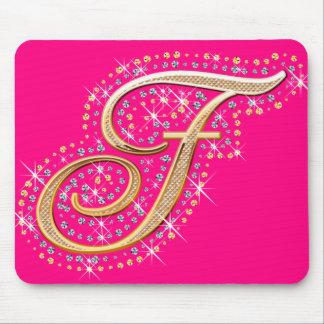 Golden Initial F - Cute Mousepad