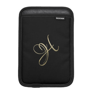 Golden initial H monogram iPad Mini Sleeve