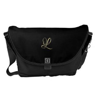 Golden initial L monogram Messenger Bag