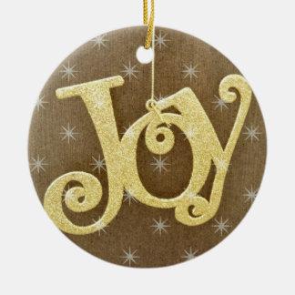 Golden Joy Christmas Ornament