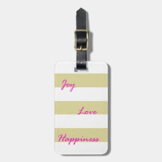 Golden Joy Luggage Tag