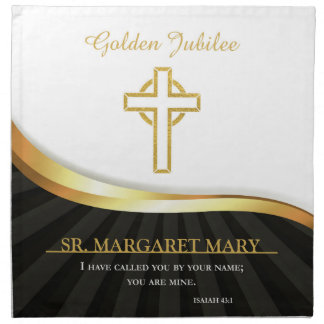 Golden Jubilee of Religious Life, 50 Year Napkin