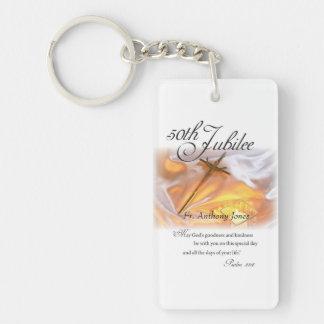 Golden Jubilee Religious Life, Cross Candle Keychain