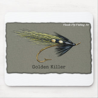 Golden Killer Fly Fishing Mouse Pad © Vinnik Art