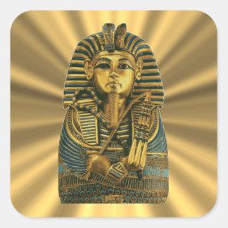 Golden King Tut #2 Square Sticker