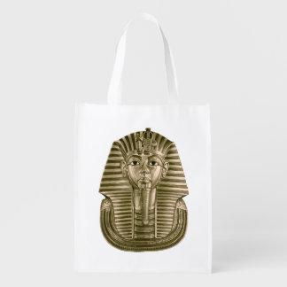 Golden King Tut Reusable Grocery Bag