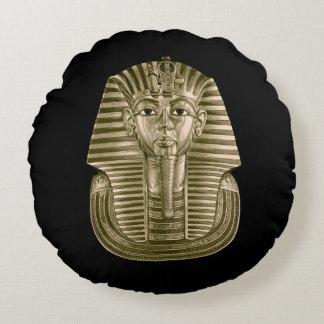 Golden King Tut Round Pillow