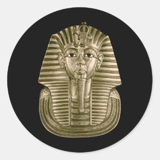 Golden King Tut Round Stickers