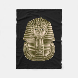 Golden King Tut Small Fleece Blanket