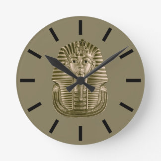 Golden King Tut Wall Clock