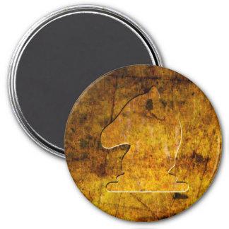 Golden Knight - Zero Gravity Chess (Metal E) 3 Inch Round Magnet