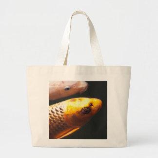Golden Koi Fish Large Tote Bag
